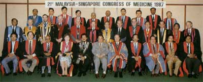 21st Malaysia-Singapore Congress of Medicine (with the official participation of the Royal Australasian College of Physicians, 15th-18th October 1987 in PWTC, Kuala Lumpur)