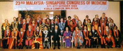 23rd Malaysia-Singapore Congress of Medicine, 5-8 October 1989 (with the official participation of the Royal College of Surgeons of England)