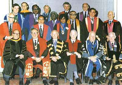 Presidents and Masters of the royal Colleges and Associated Colleges and Academies of Medicine at the Tercentenary Celebrations of the Royal College of Physicians of Edinburgh, September 6-11, 1981
