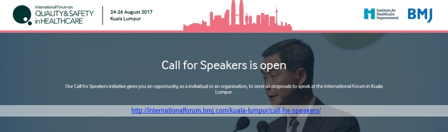 International Forum on Quality & Safety in Healthcare - Call for Speakers is open