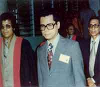 1973 - Dr. Avenilo P. Aventura (second from left) (1st Director and Senior Cardiothoracic Surgeon, Philippine Heart Center for Asia)