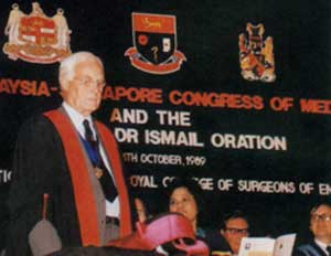 1989 - Sir Ian Todd (former President of the Royal College of Surgeons of England)