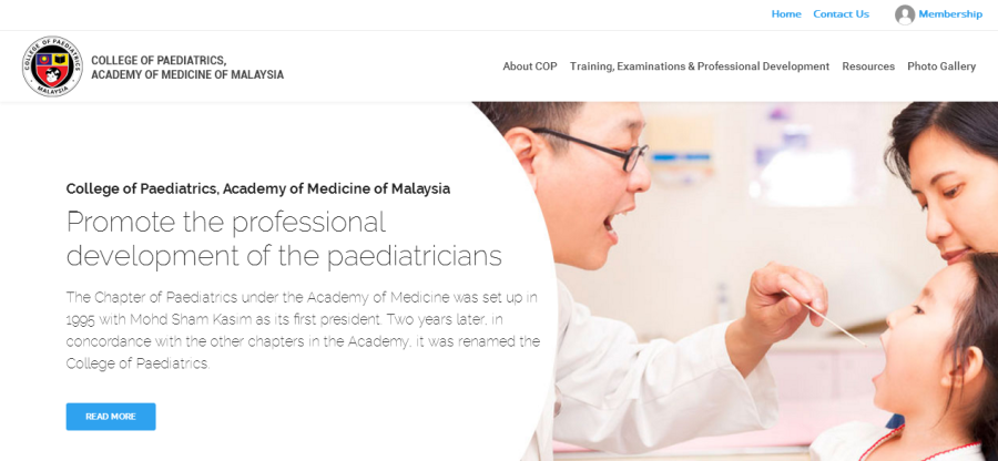 College of Paediatrics AMM is not live at www.paediatricsmalaysia.org